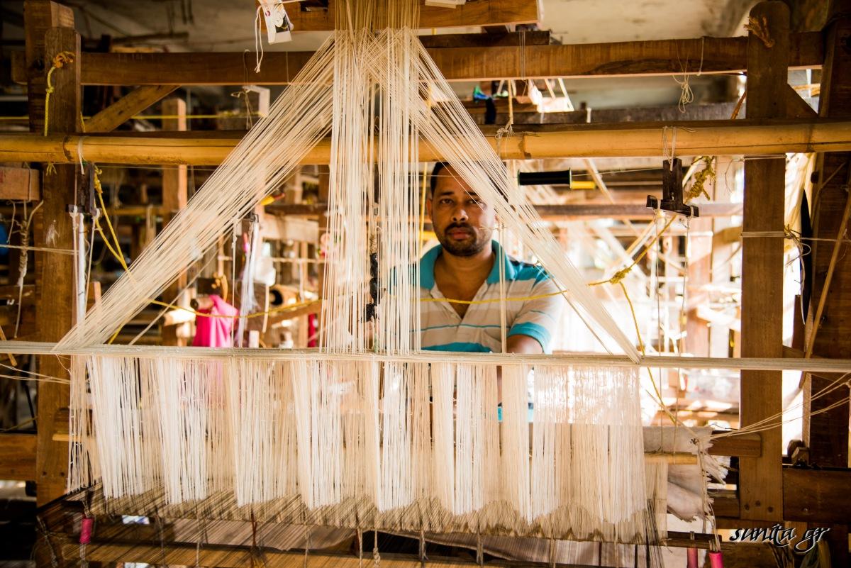 india, travel, photography, Silk, weaver, assam, assam silk, textile, handloom, craft , worker